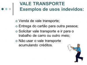uso indevido vale transporte